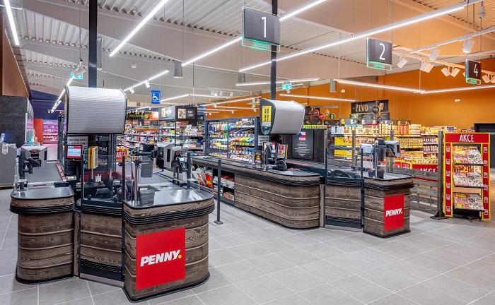 Interiér nových prodejen Penny